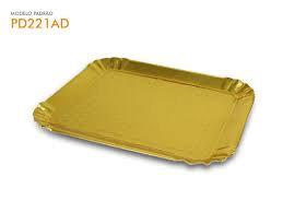 Bandeja Dourada Retangular 485x380mm  - Bolo Sulformas