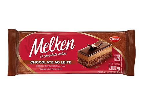 Chocolate em barra Ao Leite Melken  2,100Kg