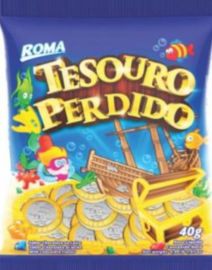 Chocolete em Moedas Tesouro Perdido Blister 40gr - Roma