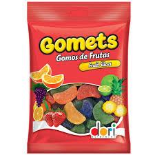 Bala Gomets Goma Gomos de Fruta 190G Dori