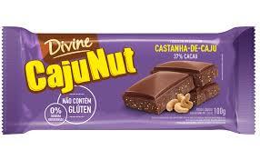 Chocolate Divine CajuNut - Ao Leite com Castanhas 100g