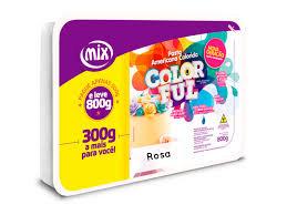 Pasta Americana Colorida Rosa  800g Mix