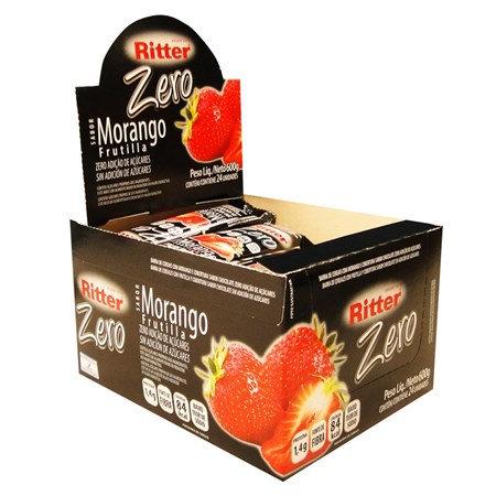 Cereal Ritter Zero Açúcar Morango com 24un de 25g