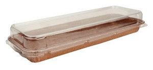 Forma Forneável Torta Retangular c/ tampa Ecopack - 272x82x22cm c/ 5un