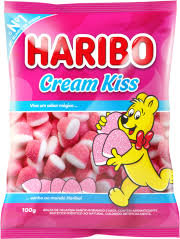 Bala Gelatina Cream Kiss 100g Haribo