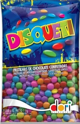 Confeito de Chocolate Disqueti 1Kg - Dori
