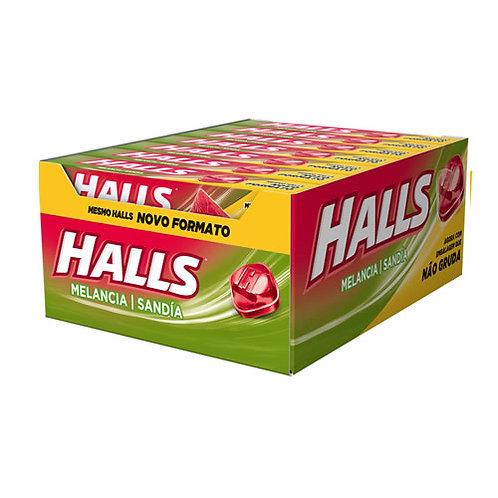 Halls Melancia Display com 21 un