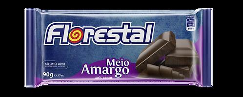 Chocolate Meio Amargo 40% Cacau 90g - Florestal