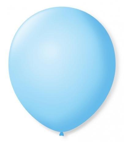 Balão  N°9 Azul Baby  - Pacote com 50un - Balões São Roque