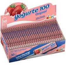 Pirulito Mastigável Yogurte 100 MorangoDori 50x11,2g