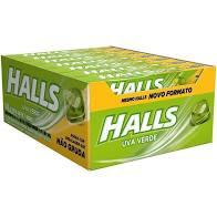 Halls sabor Uva Verde Display c/ 21un