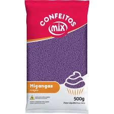 Confeito Miçanga Roxo  500g Mix
