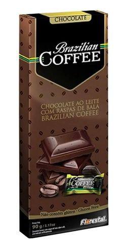 Chocolate Ao leite com raspas de Bala Brazilian Coffee 90g -  FLORESTAL