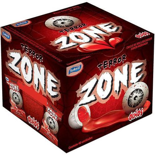 Chicle Zone Display 320g Morango Sukest