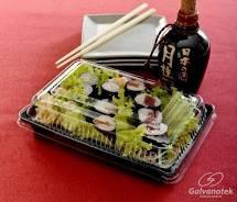 Go 915 Embalagem  Oriental p/Sushi Preta P Galvanotek