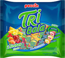Bala Tribala 2 Frutas  500g Peccin