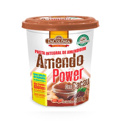 Amendo Power com Cacau - Pasta de Amendoim  Da Colônia 500g