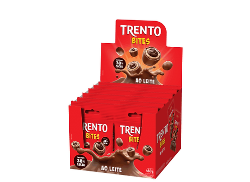 Wafer Trento Bites Ao Leite Display com 12un Peccin