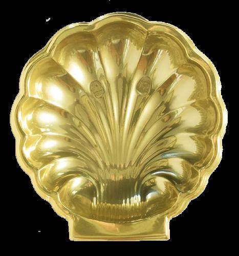 Bandeja Concha B610 Dourada - 22,5 X 23,5 X 3,5 -  Neoform