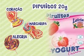 Pirulito Alegria Yogurt Creem c/30x 20g Leiria
