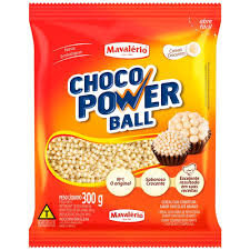 Choco Power Ball Micro Chocolate Branco 300g Mavalério
