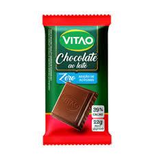 Chocolate Ao Leite Zero Açúcar 22g C/ 24 un. Vitao