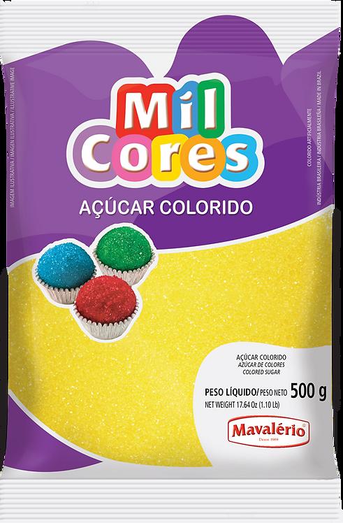 Açúcar Colorido Amarelo Mil Cores 500g - Mavalério
