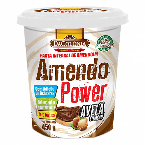 Pasta de Amendoim com Avelã e Cacau AmendoPower Da Colônia 450g