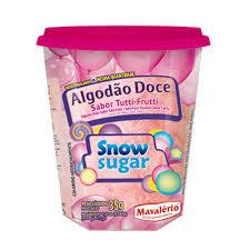 Algodão Doce Sabor Tutti Frutti Snow Sugar 35g Mavalério