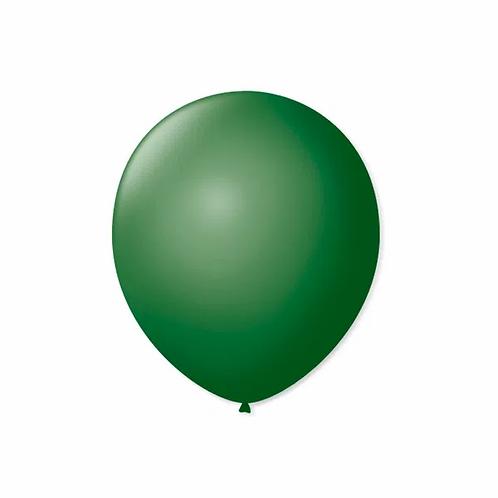Balão  N°7  Verde Folha - Pacote Com 50un - Balões São Roque