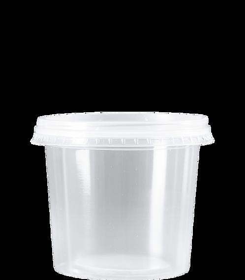 Kit PP Redondo 350ml - KP350 CR - Cristalcopo - Pacote com 25 unidades
