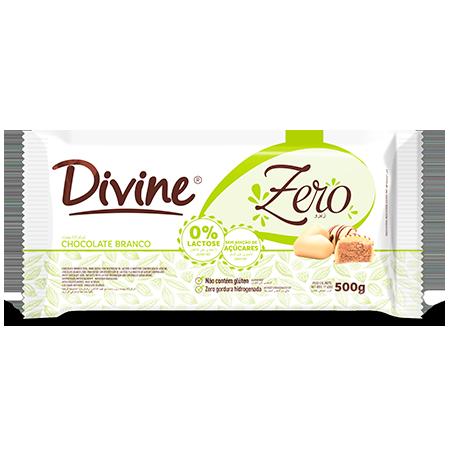 Chocolate Branco 500g Divine - Zero Açúcar, Zero Glúten e Zero Lactose