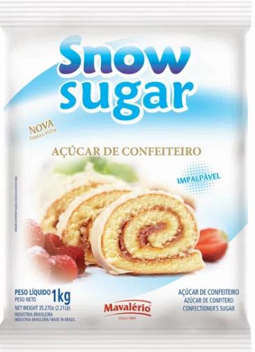 Açúcar de Confeiteiro Snow Sugar 1Kg - Mavalério