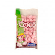 Bala de Coco Benno sabor Morango 100g