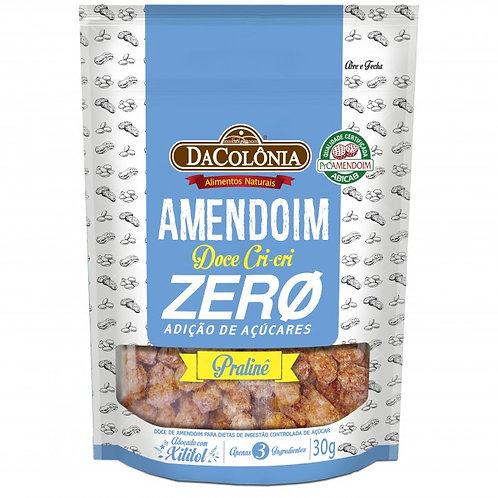 Amendoim Doce Crocante Zero Cri-cri Zero Açúcares Da Colônia 30G