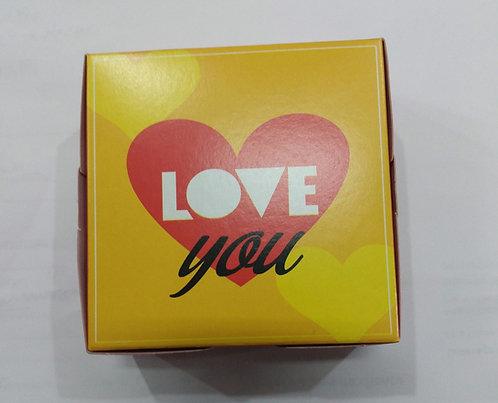 Caixa divertida p/4 Brigadeiros Love You Mor 8,5x8,5x3,5 Pct c/10un. Carber