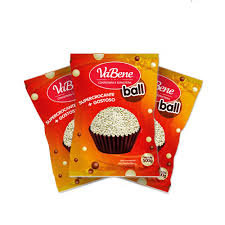 Cereal Micro Ball com cobertura sabor Chocolate  Branco 500g VaBene