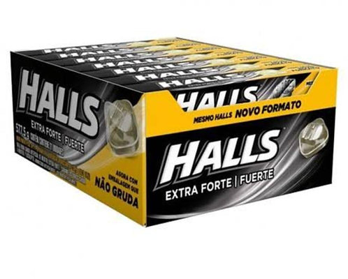 Halls Extra Forte 577,5g Display com 21 un