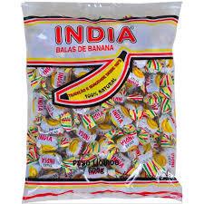 Balas de Banana Índia 600g