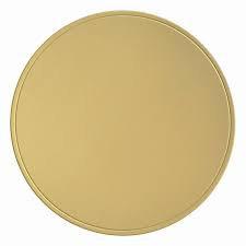 Base Laminada Redonda Ouro Fosco 28cm   Pacote c/ 10 un. Carber
