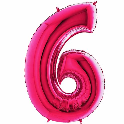Balão Metalizado Rosa Pink N°6 - 40cm.