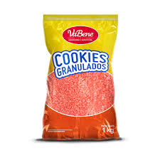 Cookies Granulados Sabor Morango   1,0KG - Vabene