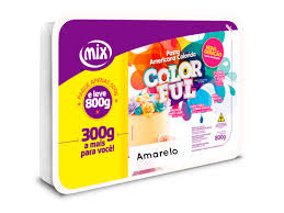 Pasta Americana Colorida Amarelo 800g Mix