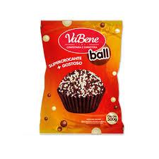 Cereal Mini Ball com cobertura sabor Chocolate Ao Leite e Branco 500g VaBene
