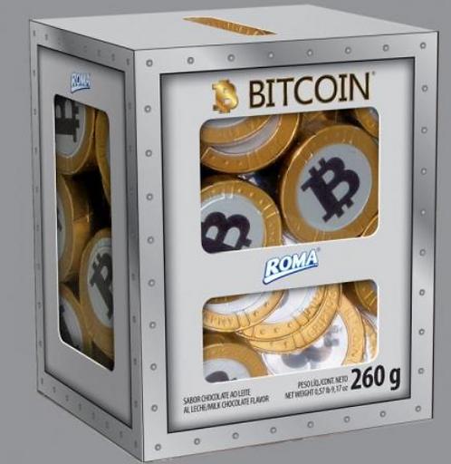 Chocolate em Moedas Cofre Bitcoin 260g - ROMA