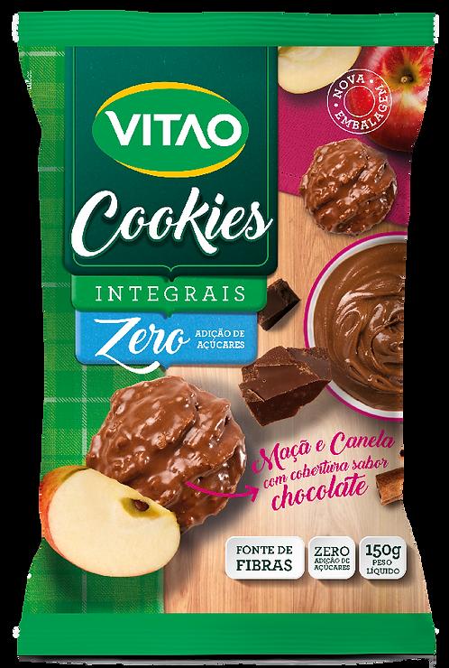 Cookies Integrais Diet de Maçã e Canela com Cobertura de Chocolate Escuro - 150g