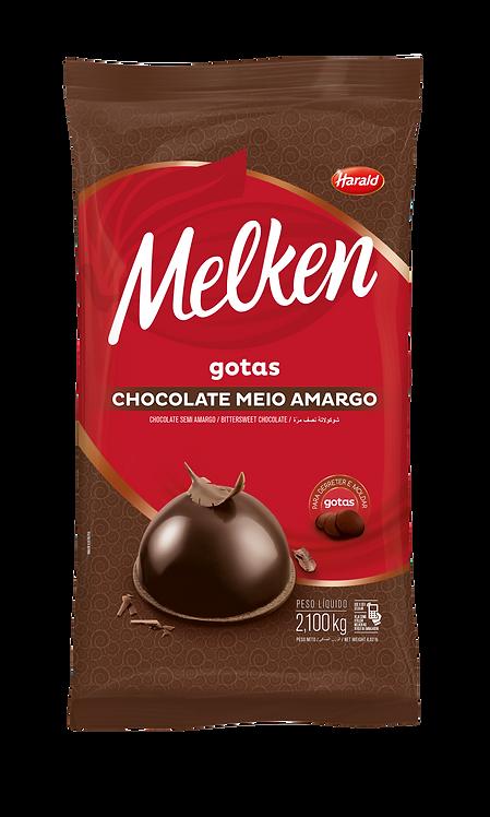 Chocolate em gotas Meio Amargo Melken Harald  2,100kg