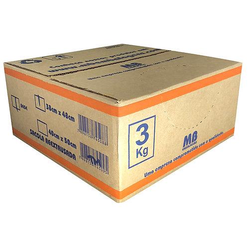 Caixa de Sacola 38x48 Bege com 3kg - MB Embalagens