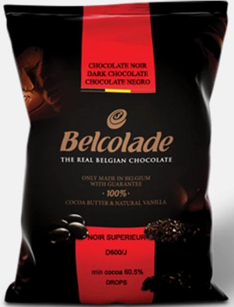 Chocolate Belga com 55% Cacau Belcolade Noir Selection 1 kg