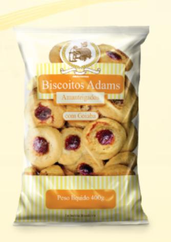Biscoito Amanteigado com Goiabada 400g - Biscoitos Adams